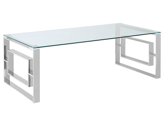Eros Coffee Table in Silver