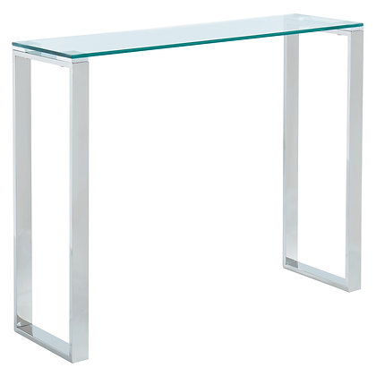 Zevon Console Table in Silver