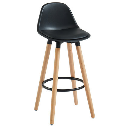 "Diablo 26"" Counter Stool in Black 2pk"