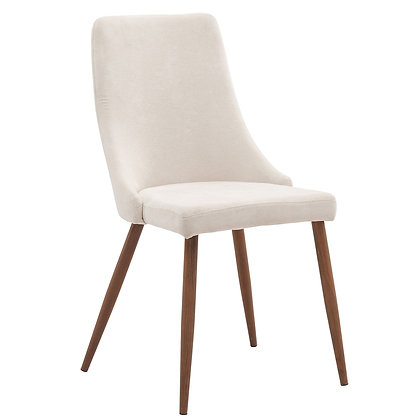 Cora Side Chair in Beige 2pk