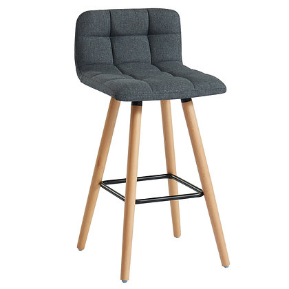 "Rico 26"" Counter Stool in Charcoal 2pk"
