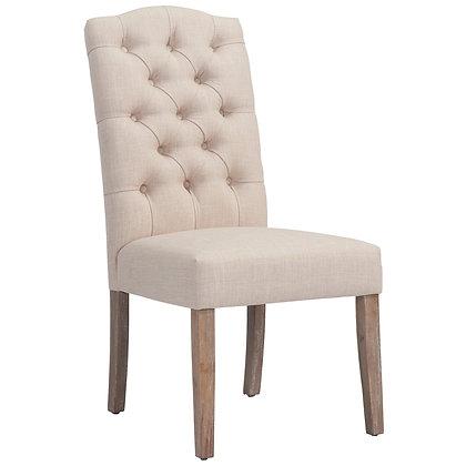 Lucian Side Chair in Beige 2pk