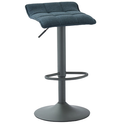 Pluto Gas Lift Stool in Blue and Grey 2pk