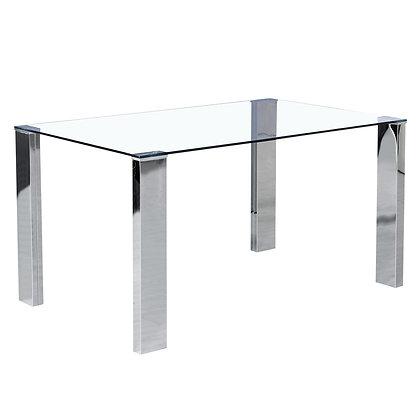 Frankfurt Dining Table in Stainless Steel