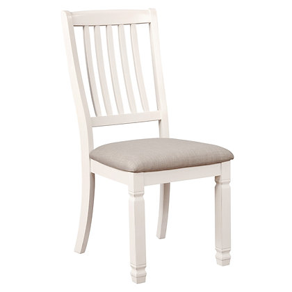 Highlands Side Chair in Antique White 2pk