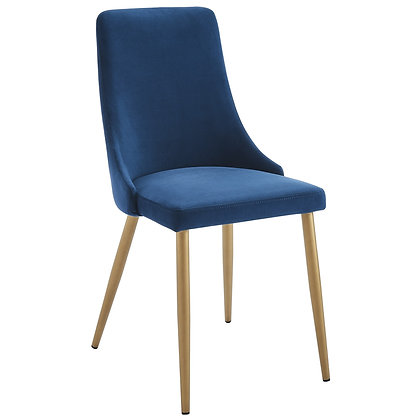 Carmilla Side Chair in Blue 2pk