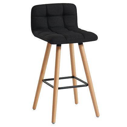 "Rico 26"" Counter Stool in Black 2pk"