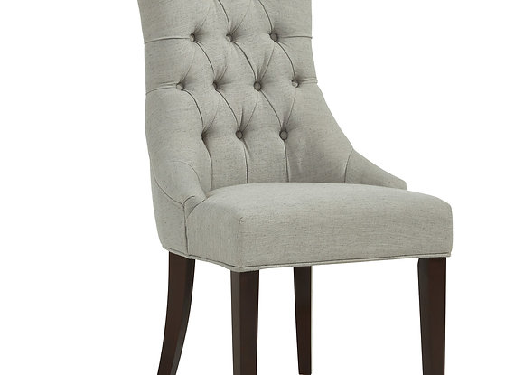 Sinatra Accent Chair in Grey w/Coffee Legs