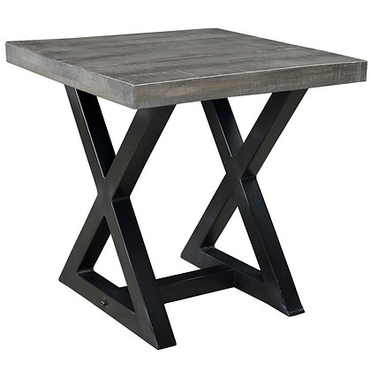 Zax Accent Table in Distressed Grey