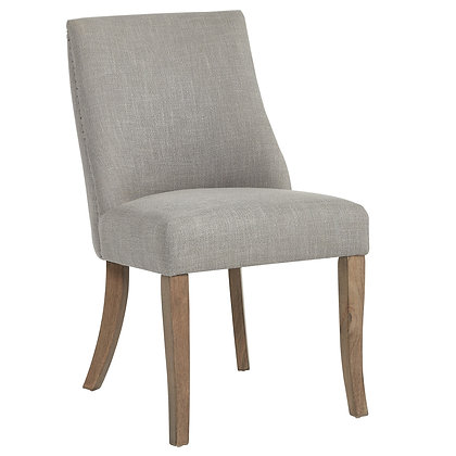 Alton Side Chair in Grey Fabric 2pk