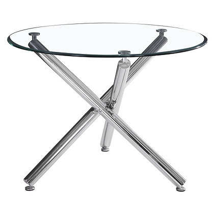 Solara II Dining Table in Chrome