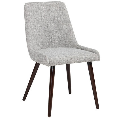 Mia Side Chair in Walnut/Light Grey 2pk