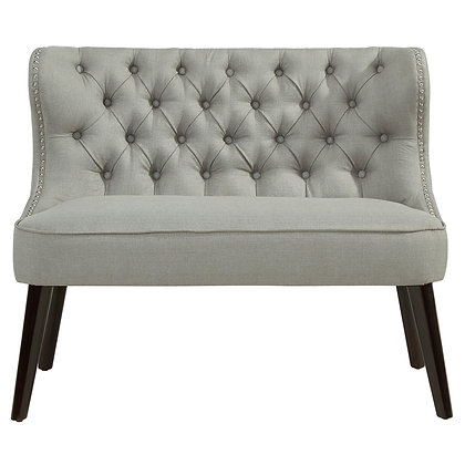Biscotti Double Bench in Light Grey