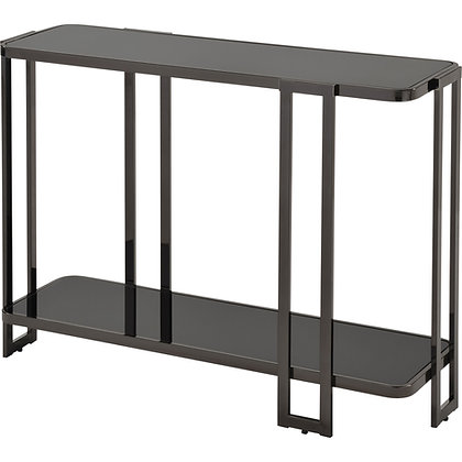 Bogdon Console Table in Black Nickel