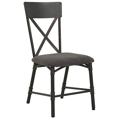 Bronx Side Chair in Antique Black 2pk