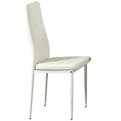 Contra Side Chair in White 6pk