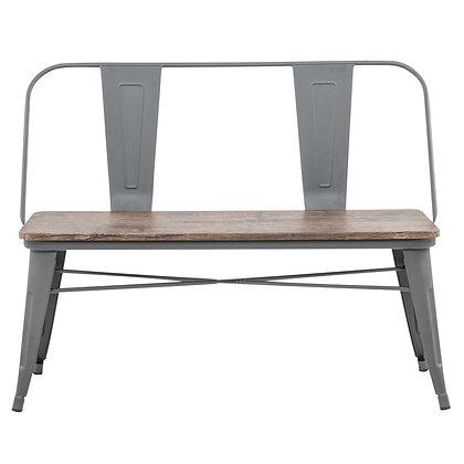 Tucker Double Bench in Grey