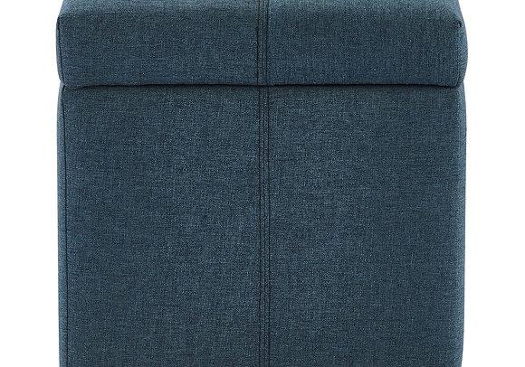 Juno Storage Ottoman in Grey and Blue