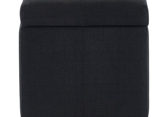 Juno Storage Ottoman in Black