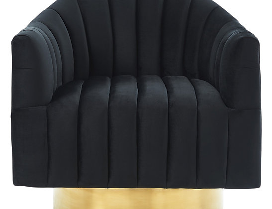 Cortina Accent Chair in Black and Gold