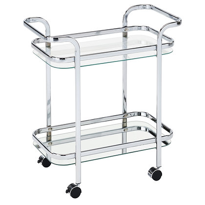 Zedd 2-Tier Trolley in Chrome