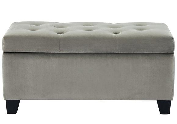 Sally Storage Ottoman in Grey