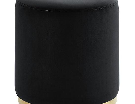 Sonata Round Ottoman in Black and Gold