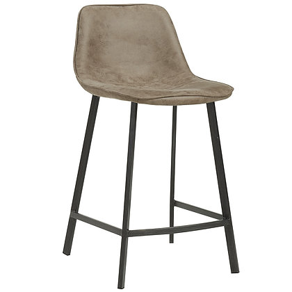 "Buren 26"" Counter Stool in Vintage Brown 2pk"