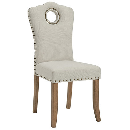 Elise Side Chair in Grey/Beige 2pk