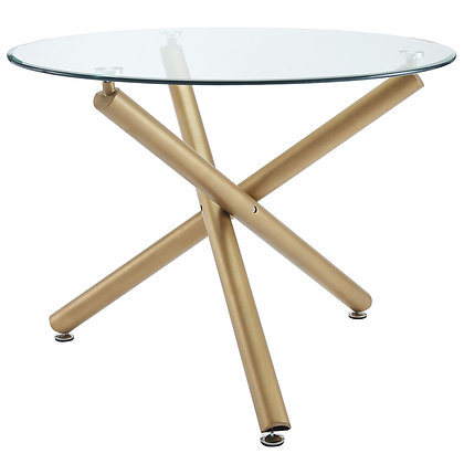 Carmilla Dining Table in Gold