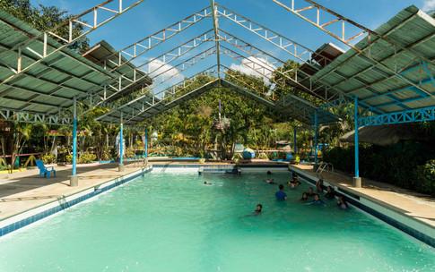 Semi-covered pool