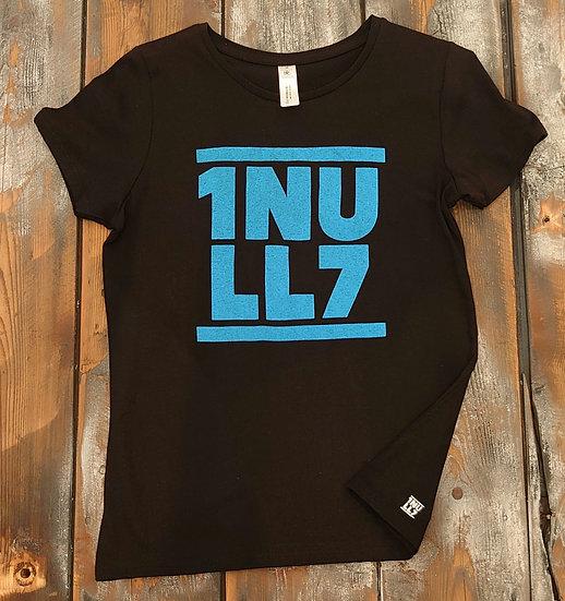 T-Shirt ladies schwarz 1Null7 hellblau