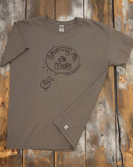 """T-Shirt men grau """"keiner mag sie, die Nazis"""""""