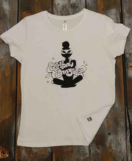 T-Shirt ladies weiß Spiritual Gangster schwarz