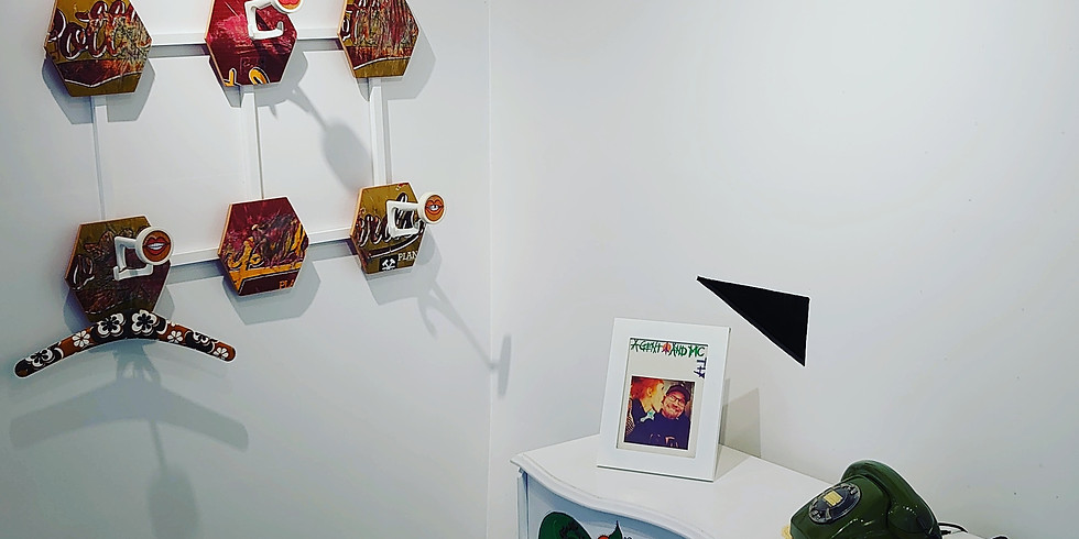 Agent O and Mc Fly die Ausstellung