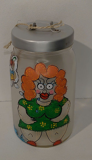 TanjART handbemaltes Vorratsglas