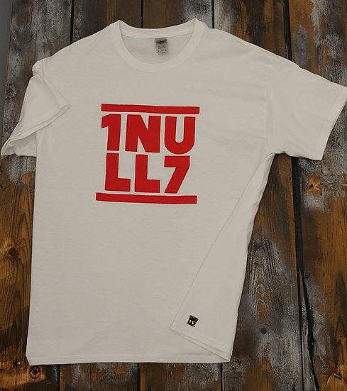 T-Shirt men weiß 1Null7 Druck rot