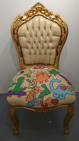 TanjART der goldene Stuhl Poscapainting in Perfektion