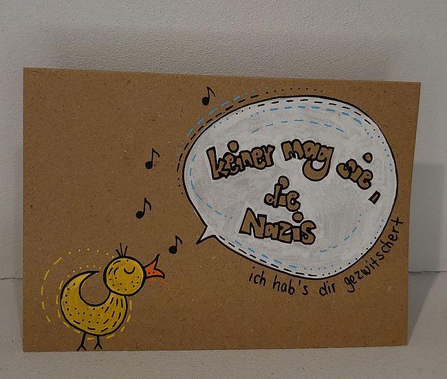 TanjART Klapp Postkarte mit Umschlag.      Unikat