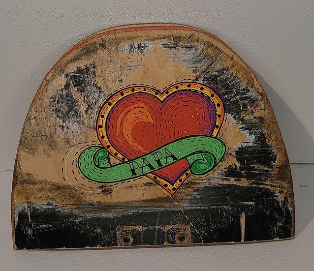 TanjART Poscapainting auf altem Skateboard