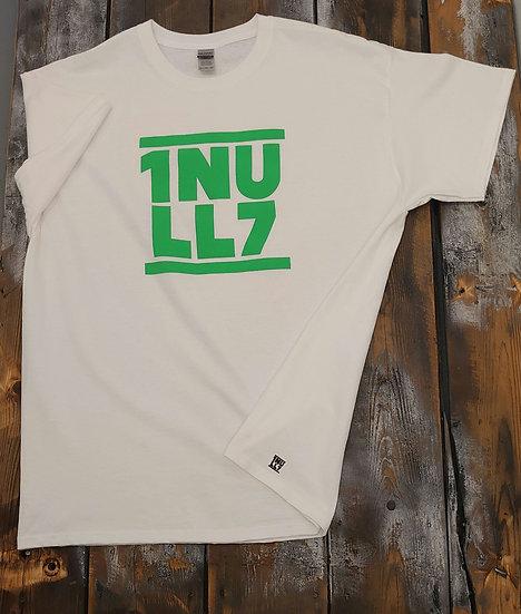 T-Shirt men weiß 1Null7 Druck grün