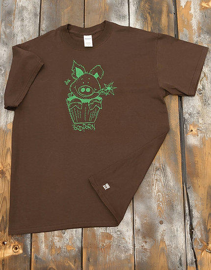 T-Shirt men braun Foodporn grün