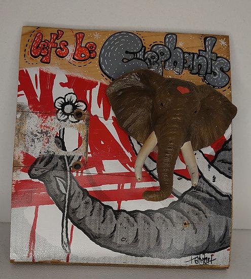TanjART Poscapainting auf altem Skateboard mit geköpftem Tier     Wandbild