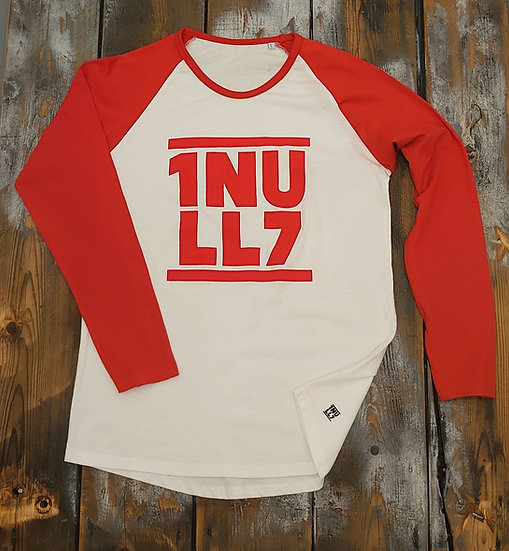 Baseball Shirt ladies weiß-rot 1Null7 rot