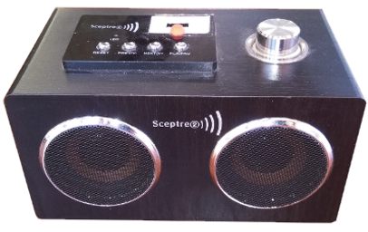 Sceptre 2 MP3 audio player for people with impaired vision