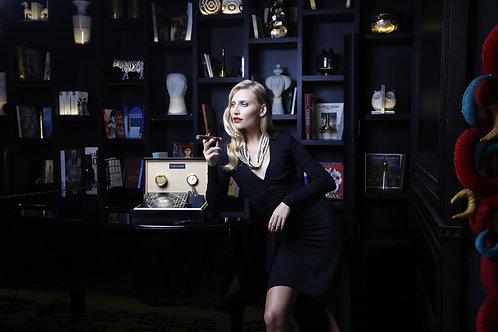REF 017 Cave à cigares Black & Gold