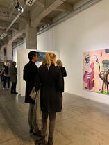 Visitors at 'Best Young Graduate Exhibit