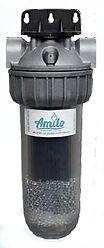 Image du filtre Amilo sous évier pour une filtration longue durée à base de charbon actif. Une vitalisation de base autour des 4 éléments est également inclue. Une alternative plus économique aux limitées carafes filtrantes...
