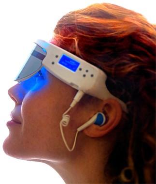 Les lunettes Psio permettent d'accéder facilement chez soi à la puissance de l'hypnose éricksonienne, sans stress et sans effort !