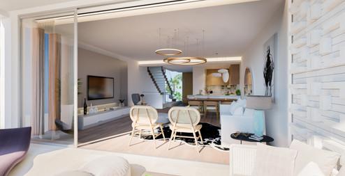 Render Riviera Living Desde Terraza 30 J
